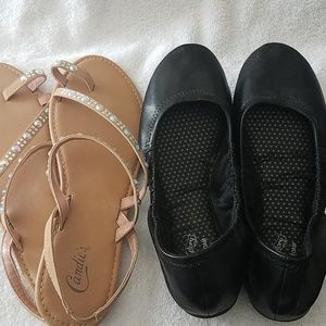Candies sandals blinged, black faded glory ballet